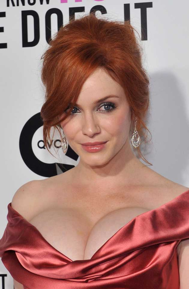 Christina Hendricks Really Busts Out