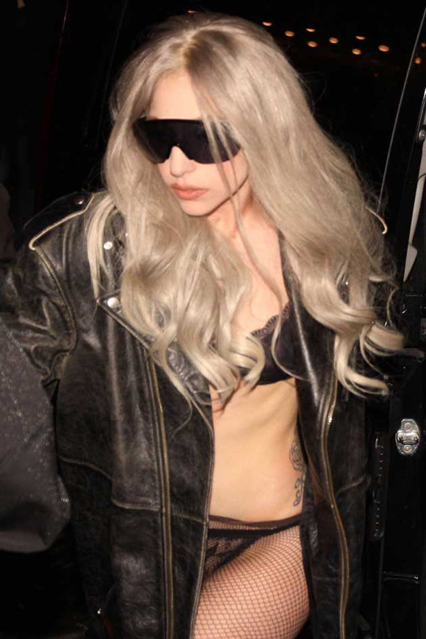 Lady Gaga Gets Her Lace On