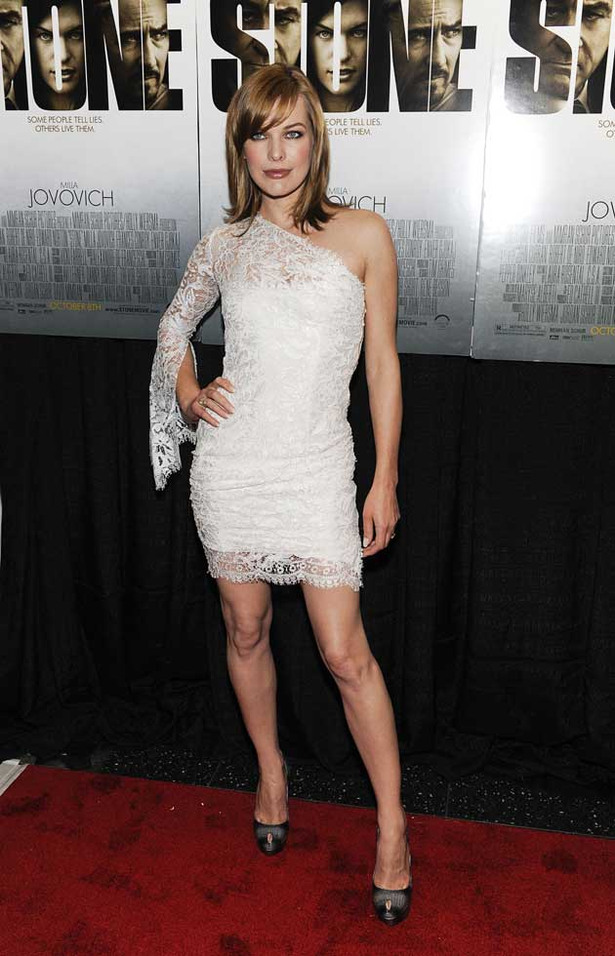Milla Jovovich is Lovely in Lace