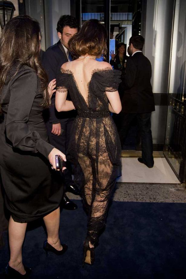 Leighton Meester Flashes Some Booty in Truly Hideous Outfit