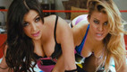 Kim Kardashian and Carmen Electra Wrestle