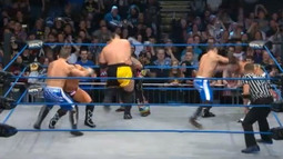 6 Man Tag Team: The BroMans & DJ Zema Vs. The Wolves & Samoa Joe