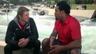 Dhani Jones Gets His Feet Wet With Michal Smolen
